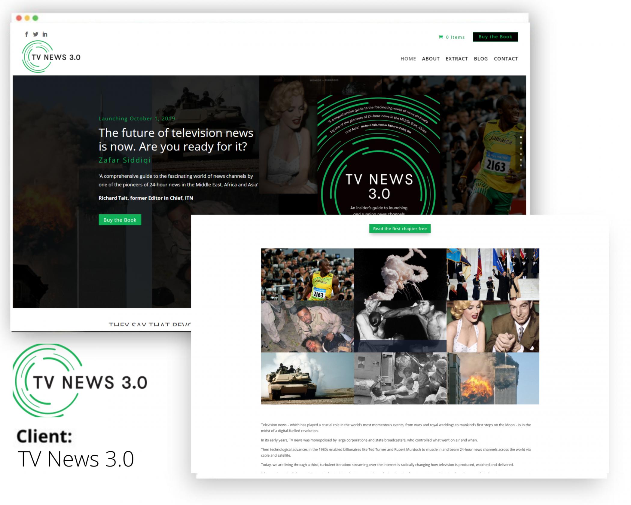 TV NEWS 3.0 website development